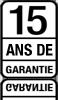15 ans de garantie sur portes et chassis